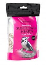 BFB652 Scrummy Sunflower Hearts Suet Pellets 0.9kg